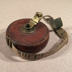 CHESTERMAN'S PATENTSHEFFIELD 33ft Leather-Brass Cased Tape Measure LinksInches