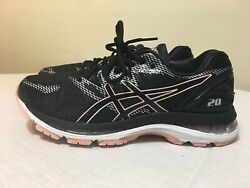 Asics Gel-Nimbus 20 T850N Running Shoes Women's Size 8.5 Blackbaby Pink $60.00
