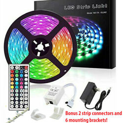 Led Strip Lights 16.4ft RGB Led Room Lights 5050 Led Tape Lights Color Changing $19.99