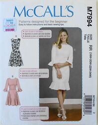 McCalls 7994 Learn To Sew Womens Plus Dresses Sewing Pattern Sz 18W 24W $3.99