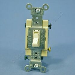 Leviton Light Almond 4 WAY COMMERCIAL Smooth Toggle Light Switch 15A 54504 2T