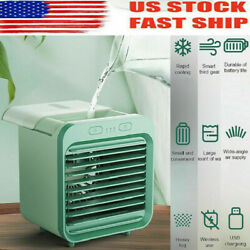 Portable USB Mini Rechargeable Water-cooled Air Conditioner Desktop Office Fan $26.99