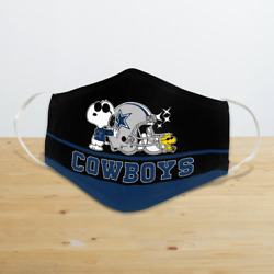 Snoopy Joe Cool DallasCowboys Reusable Cloth Face Mask Unisex Adult Mouth Cover $17.95