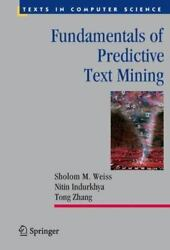 Fundamentals of Predictive Text Mining Texts in Computer Science $40.07