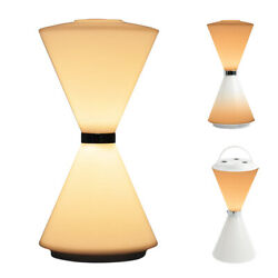 Rechargeable LED Desk Lamp Touch Table Dimmable Hourglass Night Light Bedroom US $12.96