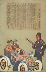 Unusual Handmade Cartoon Cut Out Pasted on Postcard c19910 POLICE OFFICER COP $14.79