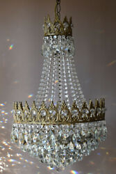 Shabby Chic Vintage Crystal Chandelier Antique Lighting Lamp Home Living Decor GBP 765.00