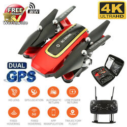 RED Drone Foldable Quadcopter GPS WIFI FPV 1080P Wide-Angle HD Camera BEST GIFTS $82.99