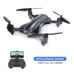 Foldable GPS drone with 1080P HD camera RC quadcopter 5G wifi FPV HQ912 tapfly $105.99