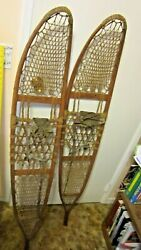 Large Pair Of Antique Snowshoes Snocraft Inc Norway Maine US 1943 $295.15