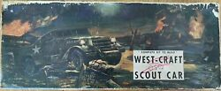 West Craft Scout Car Kit 1 24 Scale 1 2quot; to 1#x27; Balsa Kit Rare $88.00