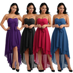 US# Women#x27;s Chiffon High Low Bridesmaid Dress Formal Cocktail Prom Evening Party $30.63