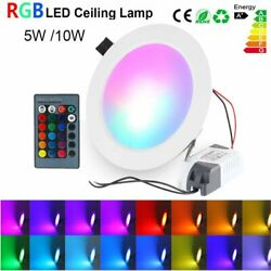 Waterproof 5W 10W LED Recessed Light RGB Ceiling Downlight Color Changing Spot $9.94