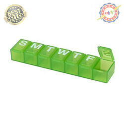 7 Day Tablet Pill Box Holder Weekly Medicine Storage Organizer Container (Small) $7.81