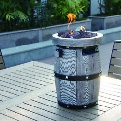 Outdoor Barrel Table Top Portable Fire Pit- Immediate Ship Available