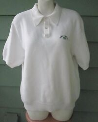 LORD JEFF PEBBLE BEACH COTTON PIQUE POLO SHIRT VINTAGE EMBROIDERED LOGO Large $14.99