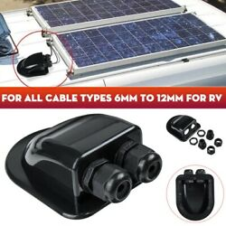 Roof Solar Panel Dual Cable Entry Gland Box Case For Motorhome Camper RV Boat $3.36
