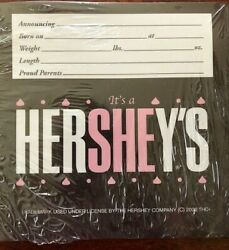 Hershey It's a SHE chocolate candy bar wrapper baby girl birth announcement 36ct