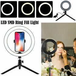 LED Ring Light Video Studio Photo Dimmable Lamp Tripod Stand Selfie CameraPhone $23.99