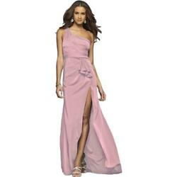 Faviana Womens 7892 Pink Satin Prom Formal Evening Dress Gown 4 BHFO 3211 $60.99