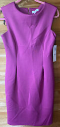 NWT Calvin Klein Women's Sleeveless Sheath Dress Purple Dress Barn Size: 6 $23.50