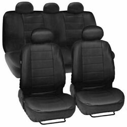 Black Universal Car Seat Covers 5-Sit Full Set Protector For Auto SUV Truck US $32.63