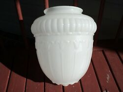 ANTIQUE MILK GLASS ACORN SHADE COMMERCIAL CEILING ARTS amp; CRAFTS 5quot; Fitter