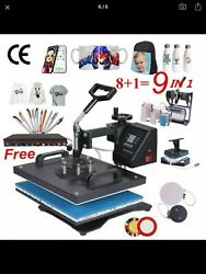 15 x 15 8 in 1 Heat Press T-shirt Printing Machine Combo Digital Sublimation $290.00