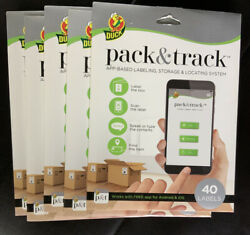 5 Pack Duck Brand Pack & Track Moving & Storage Labeling System 200 Lables $50.00
