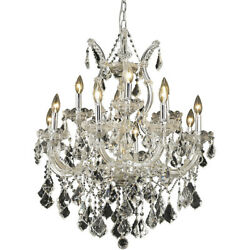 CRYSTAL CHANDELIER CHROME MARIA THERESA DINING LIVING ROOM LIGHTING 13 LIGHT 27