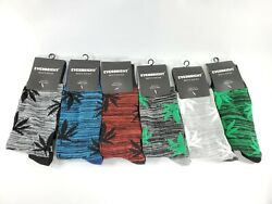 6 Paris Everbright Men#x27;s Socks Shoe Size 6 12 Socks Size 10 13 New Lot of 6 $14.95