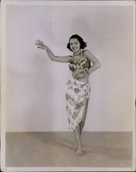 LG804 1943 Original Photo AFRO CUBAN DANCER Gorgeous Exotic Woman Swirling Hips $8.00