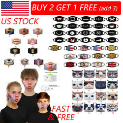 3D-Print Funny Face Mask Protective Covering Washable Reusable Adult-Unisex US $7.69
