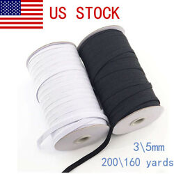 200 Yards Flat Elastic Band 35mm Stretch Rubber Strap Cord DIY Sewing Making US $13.43