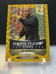 2014 WORLD CUP Prizm PRIZMS Power Gold Refractor Tim Howard USA Jersey#5 5 1 1 $499.99