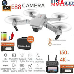 4K HD Camera WIFI FPV Foldable 6 axis Aerial Drone RC Quadcopter Altitude Hold $45.52