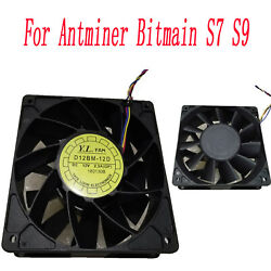 For Antminer Bitmain S7 S9 DC12V 2.3A D12BM 12D Cooling Fan Replacement Parts $19.36