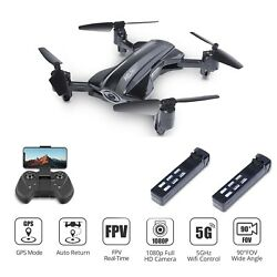 Foldable GPS drone 1080P camera 5G wifi FPV RC quadcopter HQ912 2 battery tapfly $129.99