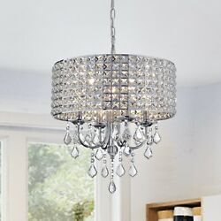 Aenna Crystal 4 light Drum Chandelier $119.99
