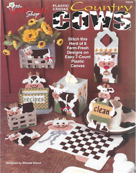 Plastic Canvas Pattern Booklet Country COWS 8 Designs on 7 Count Canvas KITCHEN $5.95