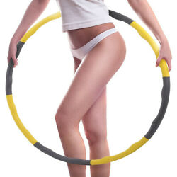 Weighted Gym Hoop Fitness Exercise Ring 0.9KG Soft & Adjustable for KidsAdult $25.64