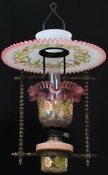RARE Victorian Hanging Oil Lamp Antique Chandelier $1699.00