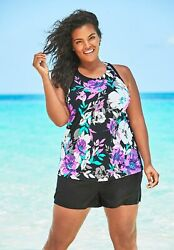 Swimsuits for All Women#x27;s Plus Size Longer Length Tankini Top $29.06