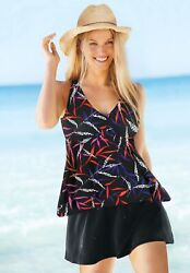 Swimsuits for All Women#x27;s Plus Size Flowy Tankini Top $22.00