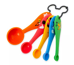 Disney Parks Mickey Silicone Measuring Spoons Set of 5 Minnie Donald Goofy NEW $17.17