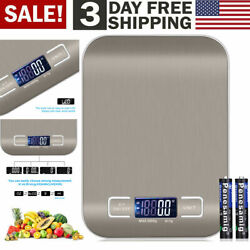 Digital Electronic Kitchen Food Diet Steel Scale Weight Balance 5KG 1g 11lb $10.99