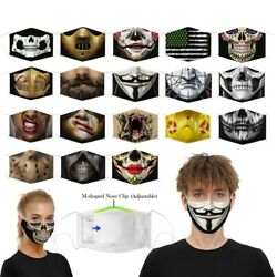 Washable Funny Mask Facemask Half Face Mouth Mark HipHop One Size Cospaly Party $7.18