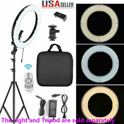 18''Led Ring Light Phone Holder Studio Portable Photo Selfie Makeup Tripod Stand $23.19