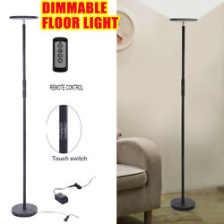 Dimmable LED Floor Lamps Tall Standing Modern Pole Light With Remote Control 30W $58.79