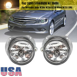 Fog Lights Lamps For Mercedes Benz W204 W216 R230 W164 W251 AMG w H7 Bulbs PAIR $49.55